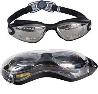 KEVENZ Swimming Goggles, No Leaking Anti Fog Swim Goggles with UV Protection for Adult Men Women Youth Kids Child