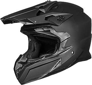 ILM Adult ATV Motocross Off-Road Street Dirt Bike Full Face Motorcycle Helmet DOT Approved MX MTV Suits Men Women (S, Matte Black)