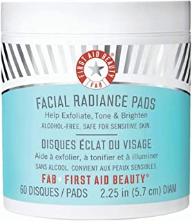 First Aid Beauty Facial Radiance Pads, Exfoliating Pads with AHA, 60 Count