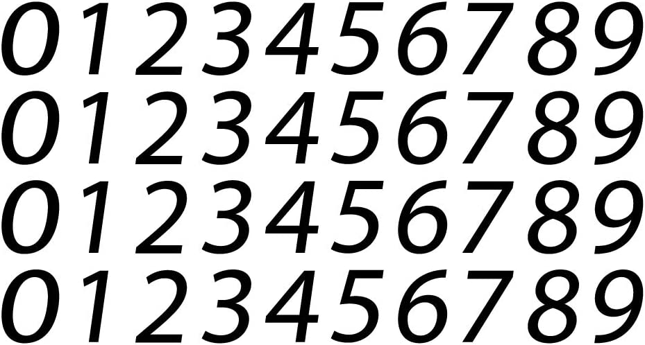 0-9 Number Modern Be super welcome Vinyl Sticker Decal Max 62% OFF Box Mail for Letter Addres