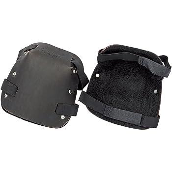 2487 Leder-Knieschoner Braun Schwarz 1 Paar