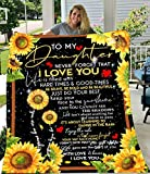 Sunflower Blanket to My Daughter Never Forget That I Love You from Mom Dad Fleece Blanket Ultra-Soft Micro Light Weight Warm Bed Throw Blanket (to My Daughter, 60'x50')