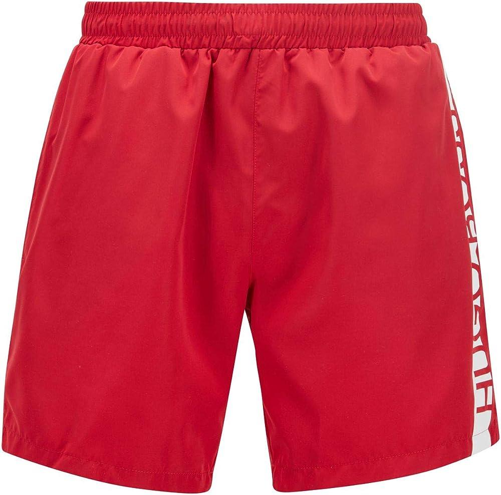 Hugo boss dolphin, costume a pantaloncino per uomo, 100% poliestere , rosso 50439746G