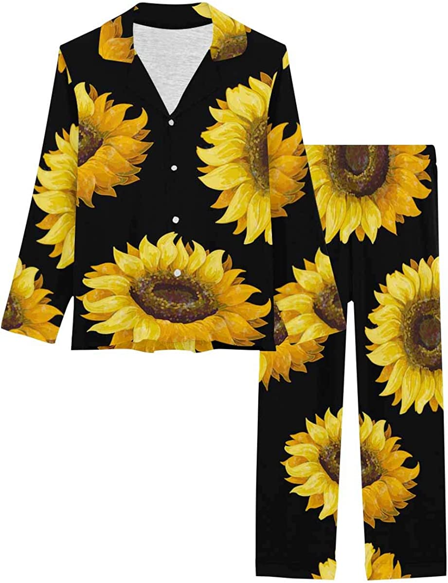 InterestPrint Button Down Animer and price Max 49% OFF revision Nightwear Soft Pajamas Set Loungewear