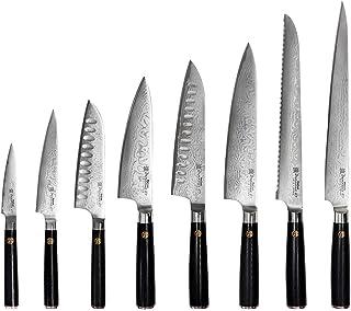 ProCook Damascus 67 - Set de Couteaux de Cuisine - Lot 8 Pièces - Ensemble de Couteaux Professionnels - Lames en Acier Dam...