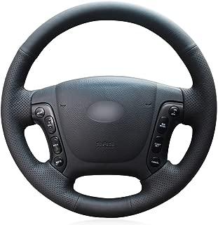 argent cadre de couverture de volant de voiture garniture garniture de volant ins/érer autocollant pour Encino Kauai Kona 2017-2020 SUV Garniture de volant de voiture