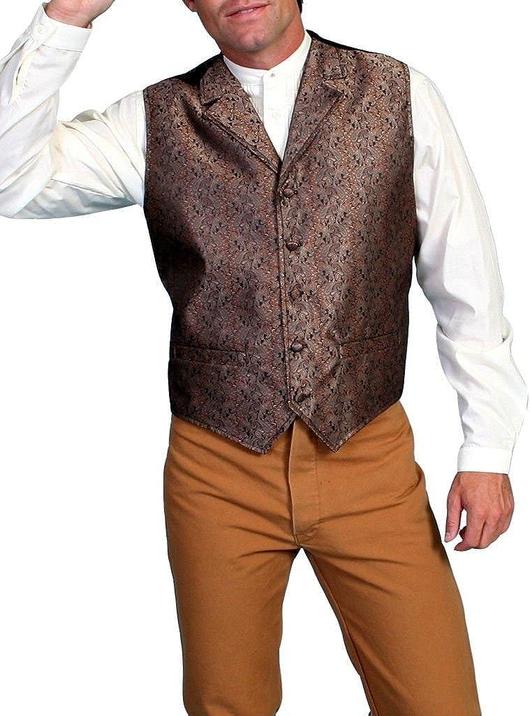 Scully Rangewear Men's Rangewear Notched Lapel Paisley Print Vest