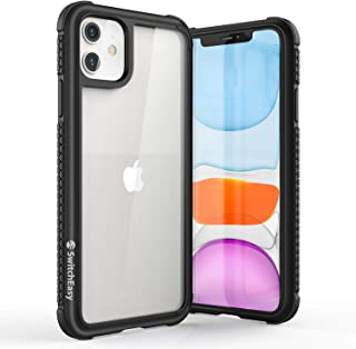 Case for iPhone 11 Clear Case - Glass Rebel Drop Tested Cover, Tempered Glass Back + Carbon Protective Frame + Shockproof ...