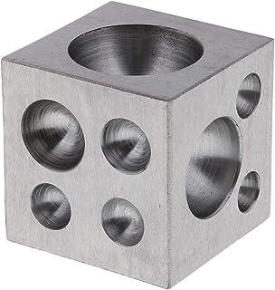 IPOTCH Dapping Block de Latón con 18 Cavidades Redondas Herramienta para Fabricación de Joyerías