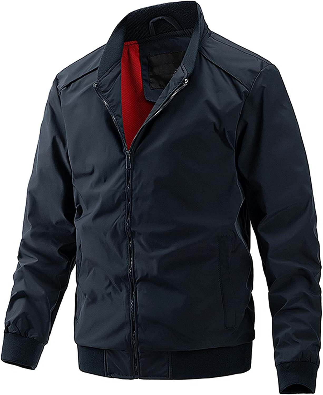 Bomber Tactical Jacket for Mens Lightweight Western Casual Long Sleeve Full Zip Jacket Outwear