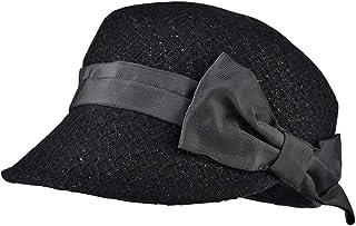 Bow Beret Hat Women Autumn Winter Warm Hats Vintage Classic Flattop Cap, Outdoor Soft Thermal Hats(57.5cm)