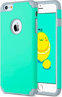 iBarbe Case for iPhone 6/6s Plus, 2 in 1 Soft Rubber PC Slim fit Shockproof Protective cover Case with Heavy Duty Protection Scratch Resistant Bumper for Apple iPhone 6 6s Plus (5.5 inch) phone-tear
