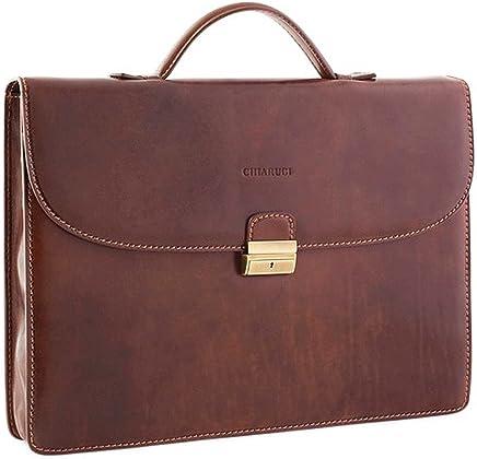 Chiarugi Italian Leather Slim Briefcase 9e2cb99f0d141