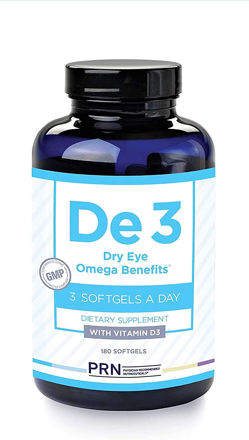 PRN Dry Eye Omega De3 (New & Improved Formula - 3 Per Day Serving) - Support for Eye Dryness - 2240mg EPA & DHA in The Triglyceride Form | 2 Month Supply…