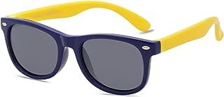 Kids Flexible Rubber Kids Polarized Square Sunglasses Age...