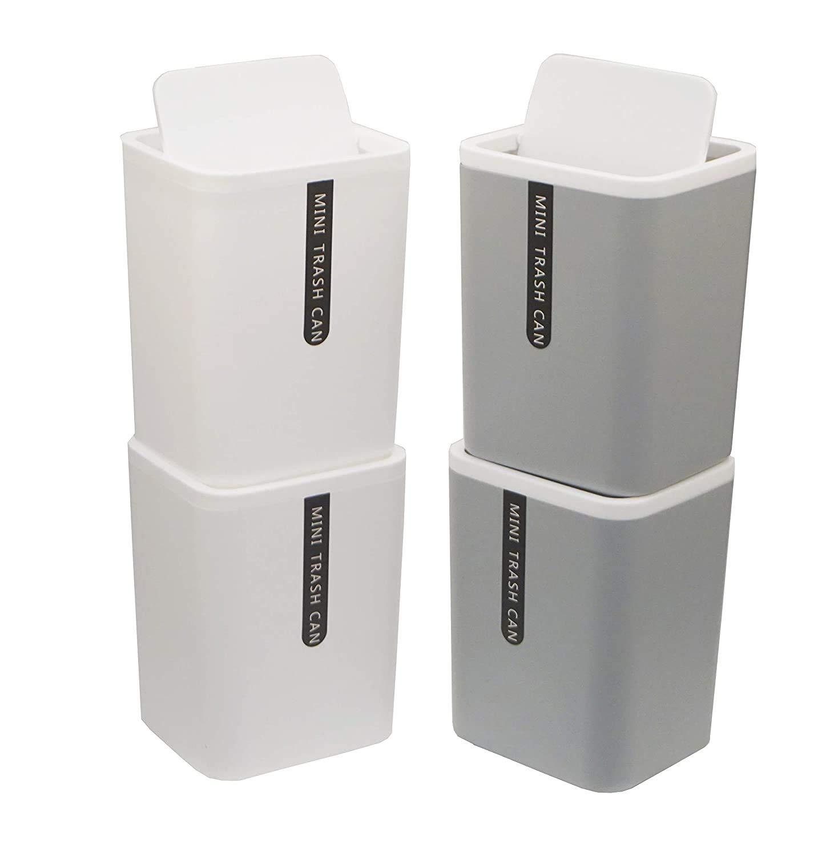 Besli Max 65% OFF Set Selling of 4 Countertop Desktop Wastebasket Trash Mini Can