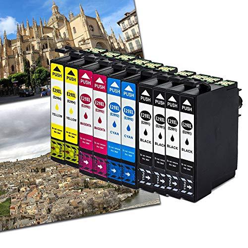 10 x caidi con nuevo Chip actualizado Epson 29 XL Cartuchos de tinta compatible con Epson Expression Home XP-332 XP-335 XP-235 XP-432 XP-435 xp-245 xp-247 xp-342 xp-345 xp-442 xp-445 XP-330 XP-430