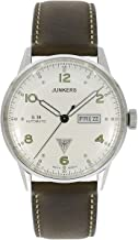 Junkers Day Date Automatic Black Leather Strap Mens Watch 6966-4 G38