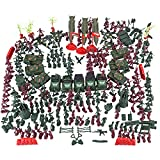 EWWEEQQ Juguetes del ejército Militar 301 Piezas de Arma de la Segunda Guerra Mundial Bolsa de Arena Tanque y Juego de Soldado de 4 cm para Mini Figuras SWAT Team Soldiers Police Compatible con Lego