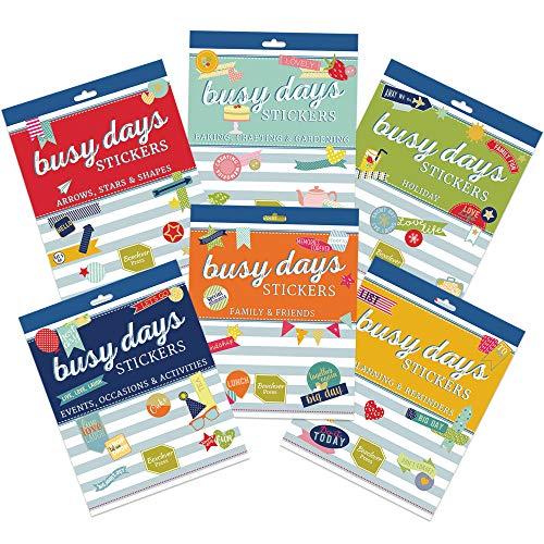 Boxclever Press Set Extra di Adesivi per Planner Busy Days Pagine con 1313 Adesivi per Scrapbooking in Totale. Stickers Agenda con Vacanze, Hobby, Amici & Famiglia, Eventi e Altro Ancora.