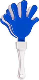 12 Pack - Blue/White Hand Clapper Noise Makers Party Favors