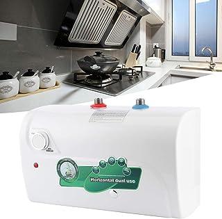 Chauffe-eau électrique, chauffe-eau électrique, stockage en acier inoxydable sans soudure 1500W 65℃ pour cuisine salle de ...