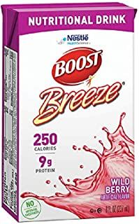 Boost Breeze Nutritional Drink, Wild Berry Box, 8 Fl Oz (Pack of 27)