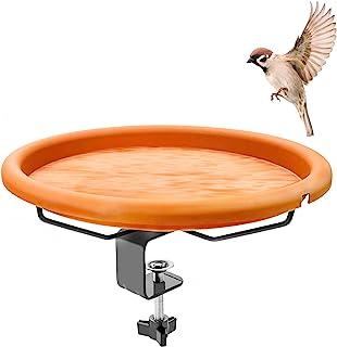 Bird Bath Deck Mount Bird Bath Unheated Bird Bath Deck Bowl Spa with Lightweight Detachable and Heavy Duty Sturdy Clump