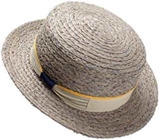 2019 Sun Hat Lafite Summer Sweet Lovely Beach Hat Korean Bow Small Hat Travel Visor` TuanTuan (Color : Gray, Size : 56-58CM)