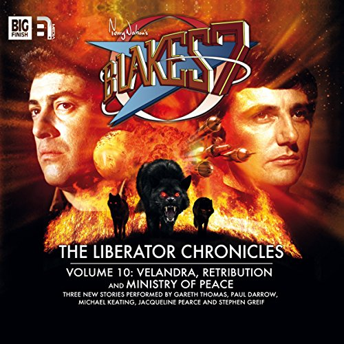 Blake's 7 - The Liberator Chronicles, Volume 10                   By:                                                                                                                                 Steve Lyons,                                                                                        Una McCormack,                                                                                        Andrew Smith                               Narrated by:                                                                                                                                 Paul Darrow,                                                                                        Michael Keating,                                                                                        Jacqueline Pearce,                   and others                 Length: 2 hrs and 52 mins     4 ratings     Overall 4.3
