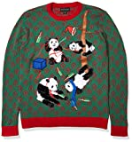 Blizzard Bay Men's Ugly Christmas Sweater Drinking, Red, Medium