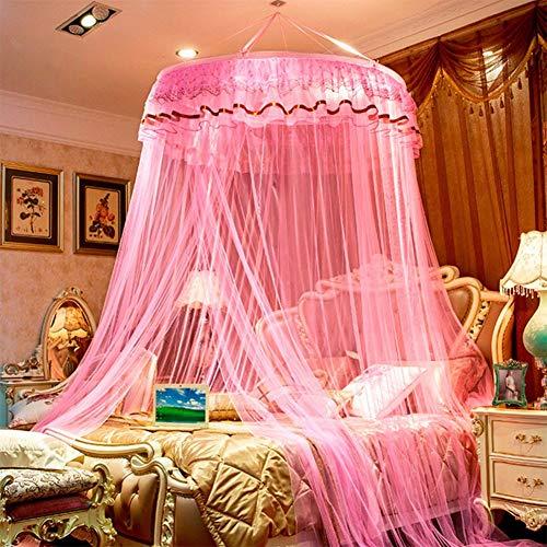 Willlly Dome hanggordijn, muggennet, casual, chique, prinsessendesign, licht, luifel, F koningin, oosters, zachte decoratie Size Kleur: zwart/bruin,