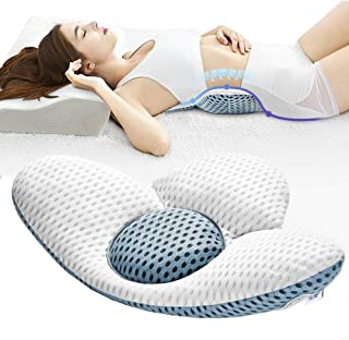 Fcare Lumbar Support Pillow for Sleeping, Height Adjustable, 3D Lower Back Support Pillow Waist Sciatic Pain Relief Cushio...