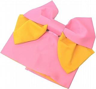 リサイクル着物 作り帯 中古 浴衣 化繊 付帯 浴衣帯 文庫結び ピンク系 kka7722b