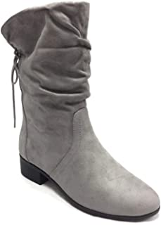 Women's Slouchy Boot Round Toe Faux Suede