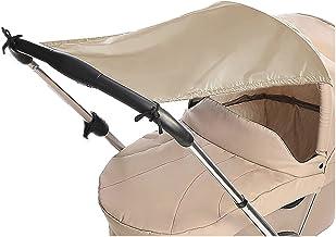 reer 8411.3 toldo para silla de paseo - Toldos para sillas de paseo (Beige, Monótono, Nylon, 99%, 690 mm, 520 mm)