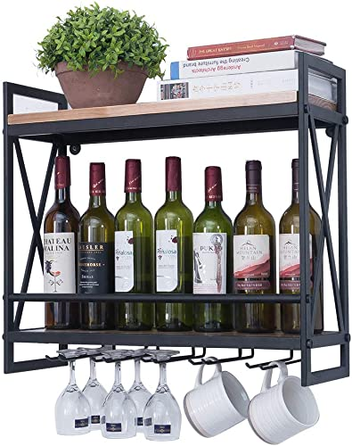 Industrial-Wine-Racks-Wall-Mounted-with-6-Stem-Glass-Holder
