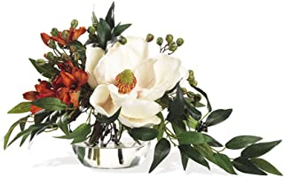 Petals - Southern Charm Silk Flower Arrangement - Handcrafted - Amazingly Lifelike - 12 x 12 Inches