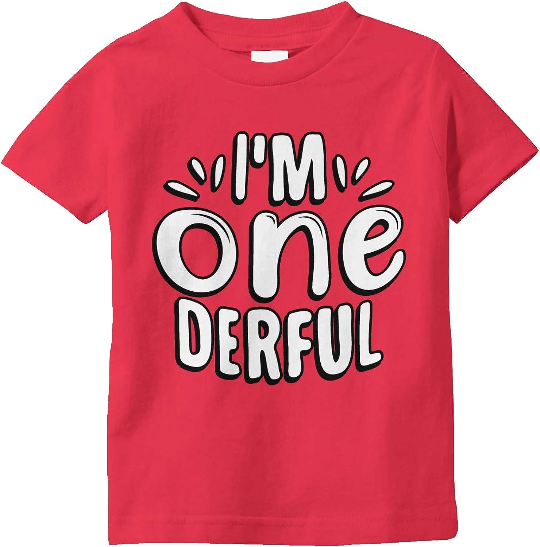 Amdesco I'm ONE Derful, Onederful 1st First Birthday Infant T-Sh