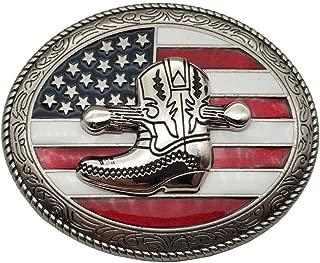 Cowboy Boots Western Belt Buckle American Flag Buckles