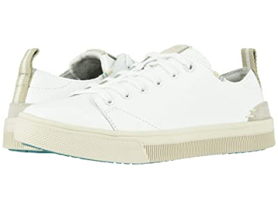 TOMS TRVL LITE Low (White Leather) Women