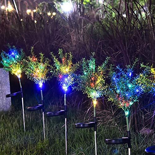 solar gartenlicht,2 PC, Solargarten-Lichter, Weihnachtsbaum im Freien, geführte angetriebene Solarlandschaftslichter, für begrabenes Solarlicht des Bahn-Yard-Patiooutdoor-Garten-Rasens