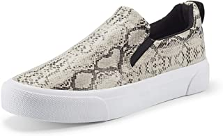 jenn-ardor Women's Slip On Sneakers Perforated/Quilted Casual Shoes Fashion Comfortable Walking Flats