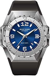 Reef Tiger/RT Blue Dial Mens Big Sport Mechanical Watches Steel Case Automatic Dive Watches RGA6903