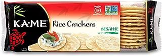 Ka-Me Gluten Free Rice Crackers, Sesame, 3.5 Ounce (Pack of 12)