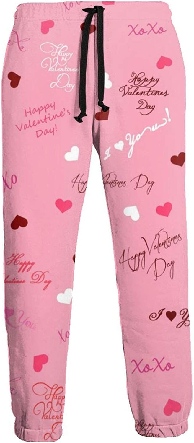 Active Sweats Jogger Pants Happy Valentines Day Running Joggers Casual Sweatpants for Men Women
