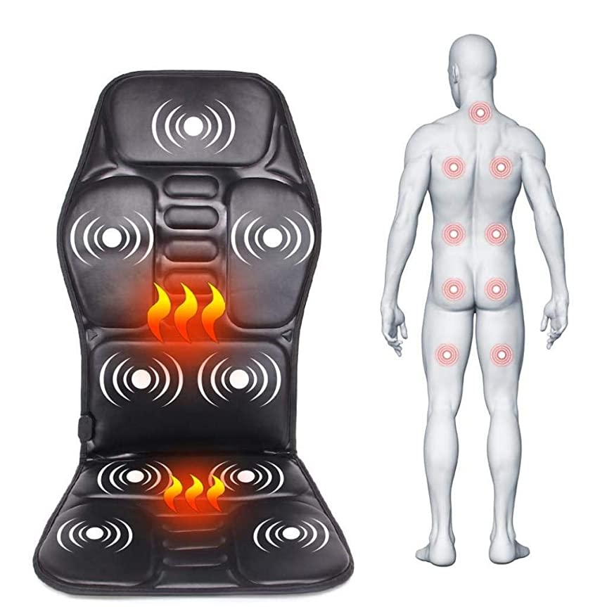 失望お勧め驚かすマッサージクッション、電動ポータブル暖房/振動/マッサージ、カー/ホーム/オフィスでの使用、腰と首の痛みを和らげるには、血液循環を促進、疲労を和らげます