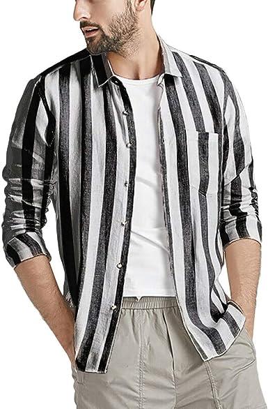 Camisa de Manga Larga de Lino para Hombre, Corte clásico ...