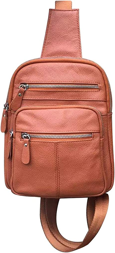 SILVERFEVER Limited Max 50% OFF price Leather Sling Backpack Unisex Organizer Ladies Men