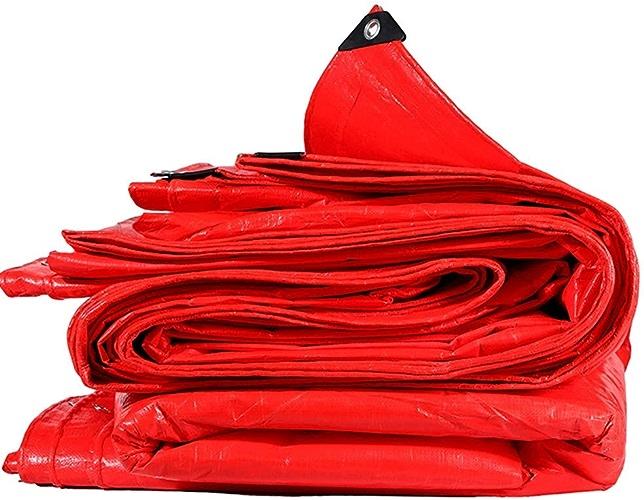 Waterproof Cloth Home Bache imperméable, Tissu imperméable d'échafaudage de Mariage d'exposition imperméable d'écran Solaire antipluie Rouge épais (Taille   4  4m)